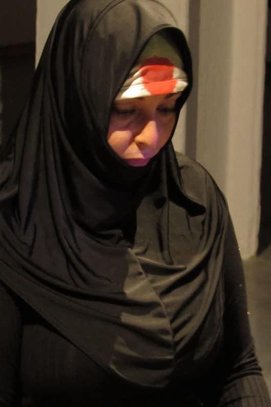 Doris Hakim, Ave Allah, 2018.  Video Performance, Sevilla, Spain, Video 4:25 min. © The artist. Video by José Paredes, Photos: Alicia Rosuna